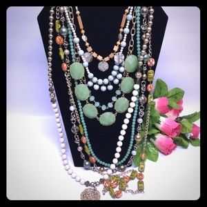 Boho hippie bohemian necklace lot